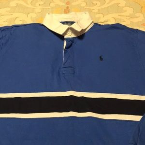 Polo by RL L/S polo shirt with stripes, XL(18-20).